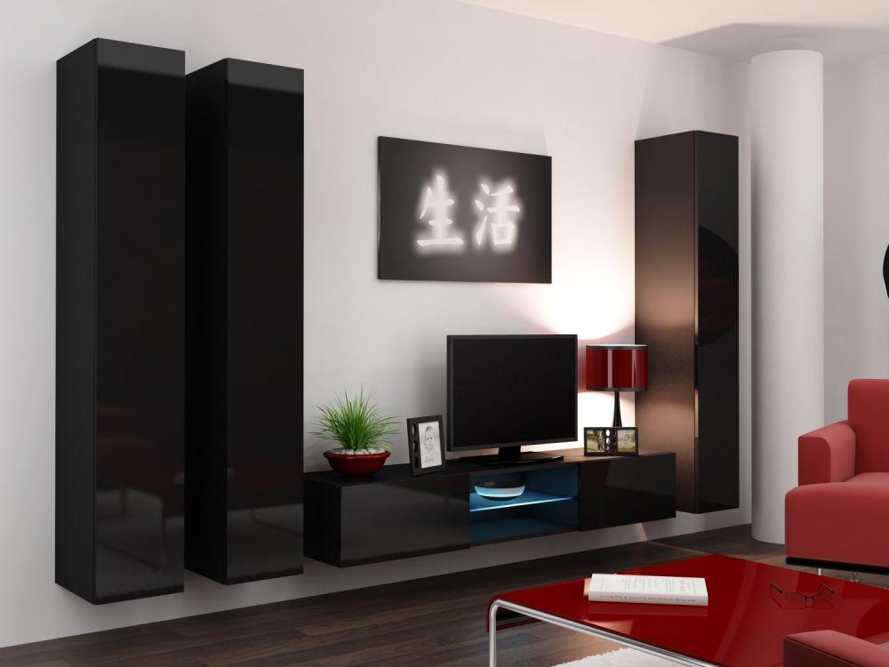 Artcam Obývacia stena Vigo 18 čierna