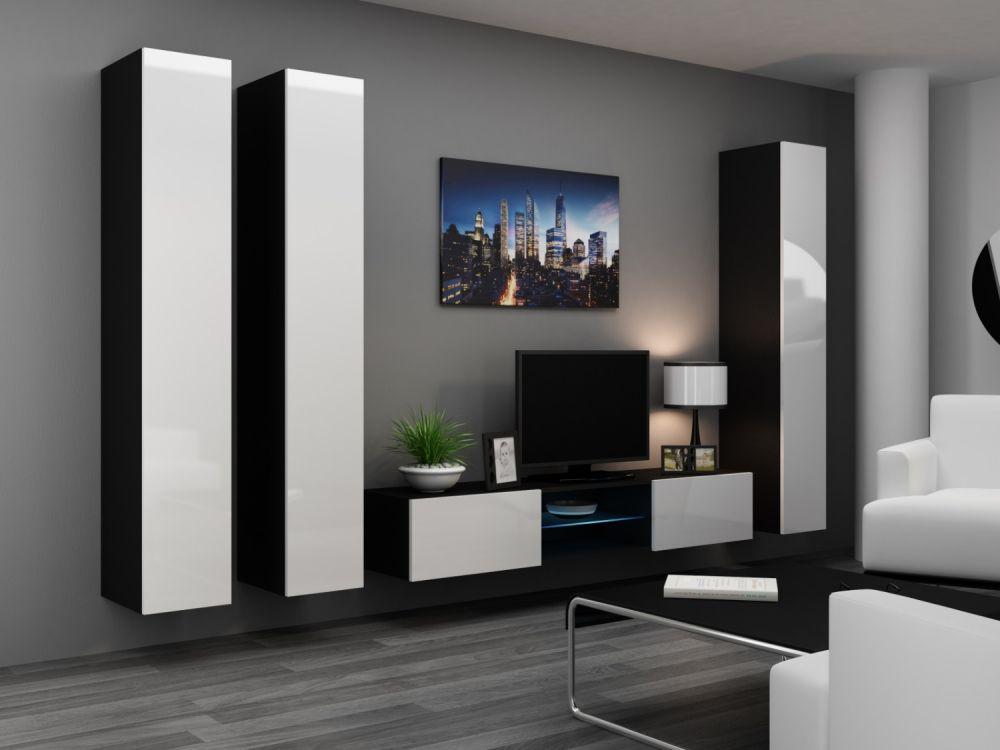 Artcam Obývacia stena Vigo 18 čierna/biela