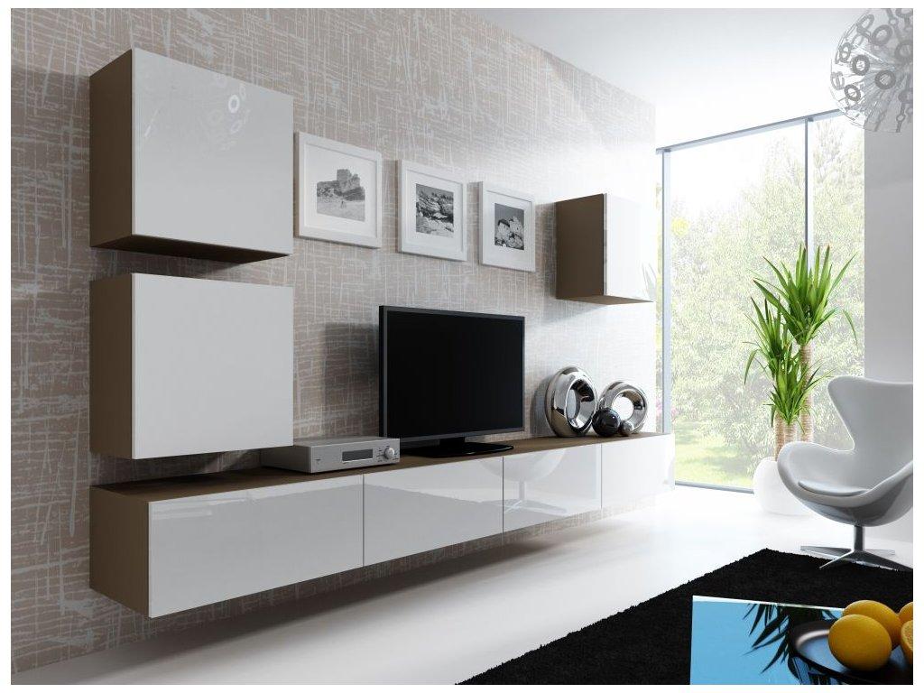 Artcam Obývacia stena Vigo 22 Farba: Latte/biely lesk