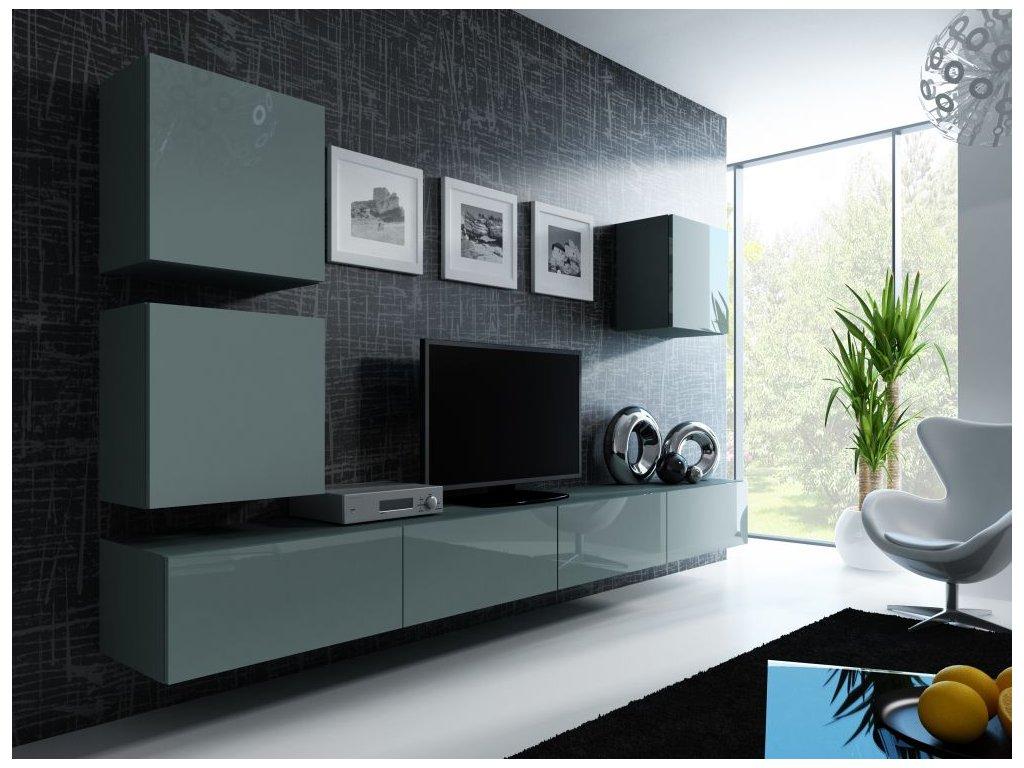 Artcam Obývacia stena Vigo 22 Farba: Sivá/sivý lesk