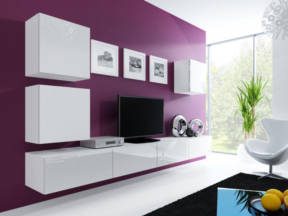 Artcam Obývacia stena Vigo 22 Farba: Biela/biely lesk
