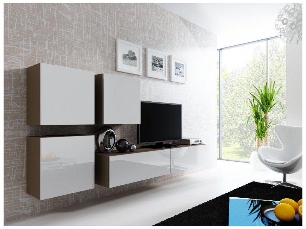 Artcam Obývacia stena Vigo 23 Farba: Latte/biely lesk