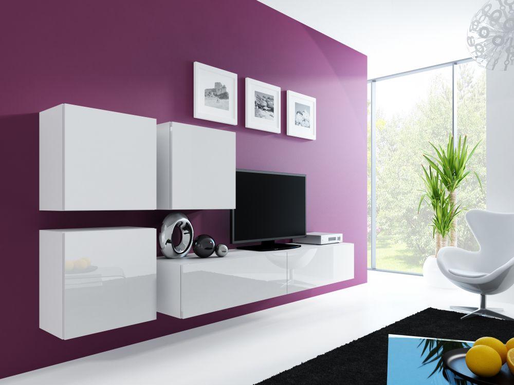 Artcam Obývacia stena Vigo 23 Farba: Biela/biely lesk