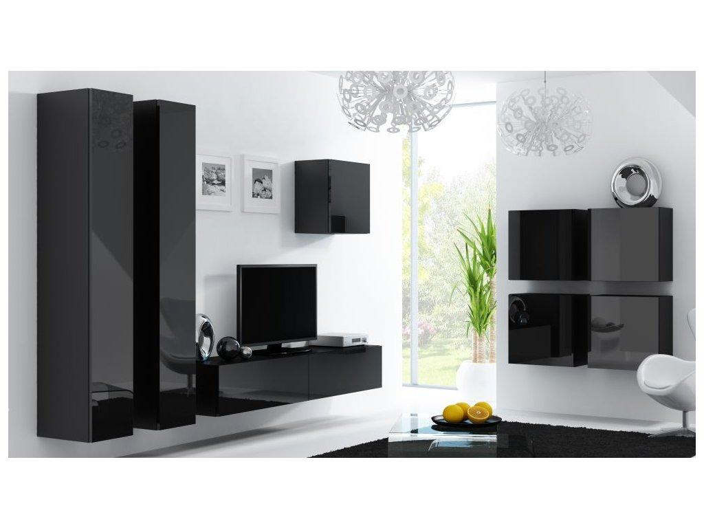 Artcam Obývacia stena Vigo 24 Farba: Čierna/čierny lesk