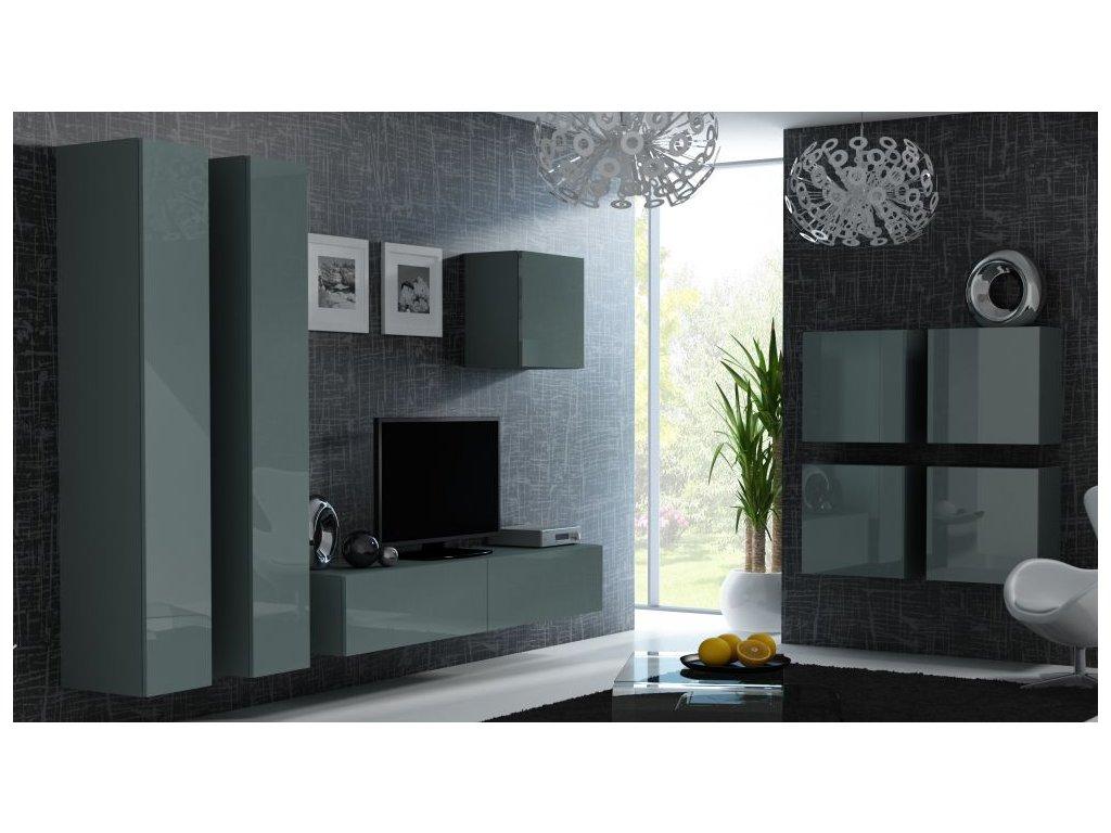 Artcam Obývacia stena Vigo 24 Farba: Sivá/sivý lesk