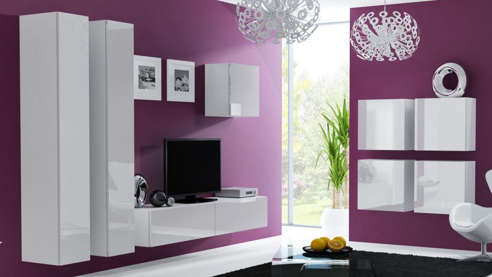 Artcam Obývacia stena Vigo 24 Farba: Biela/biely lesk