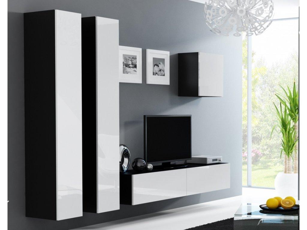 Artcam Obývacia stena Vigo 25 Farba: čierna/biely lesk