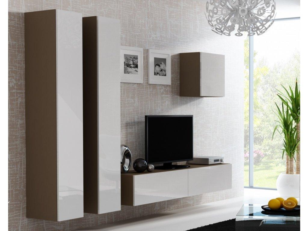 Artcam Obývacia stena Vigo 25 Farba: Latte/biely lesk