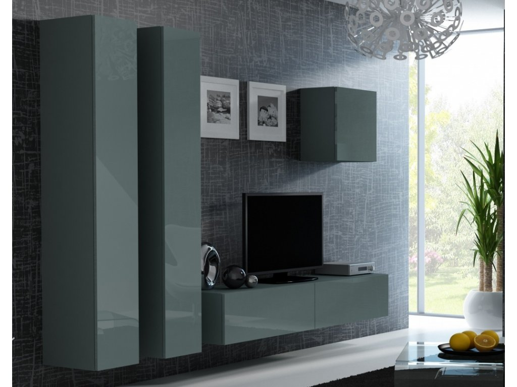 Artcam Obývacia stena Vigo 25 Farba: Sivá/sivý lesk