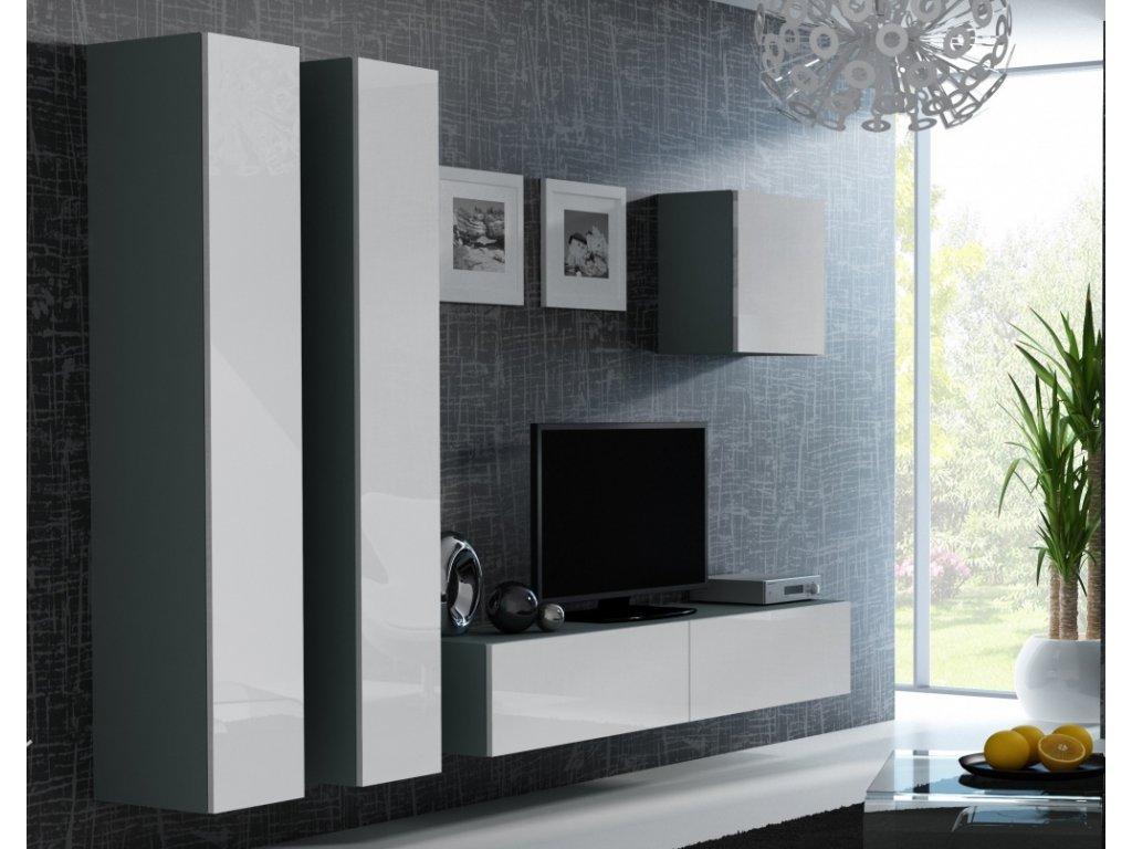 Artcam Obývacia stena Vigo 25 Farba: Sivá/biely lesk