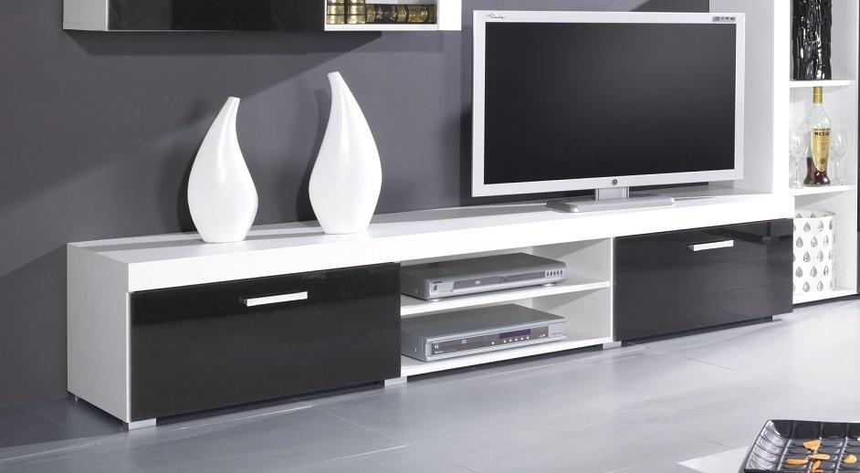 Artcam TV stolík Samba reg.8 | biela/čierny lesk