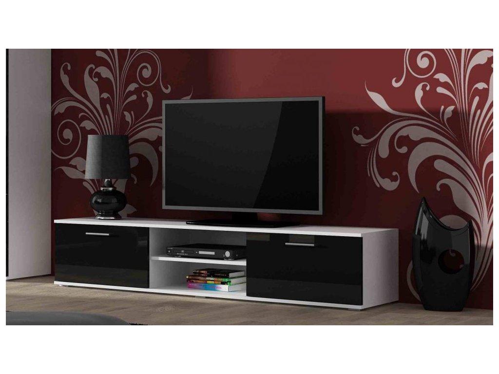 Artcam TV stolík SOHO 180 cm Farba: biela/čierny lesk
