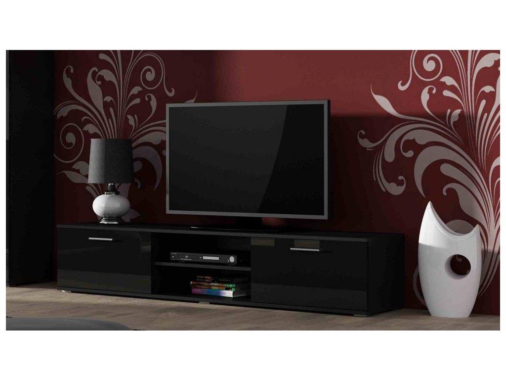 Artcam TV stolík SOHO 180 cm Farba: Čierna/čierny lesk