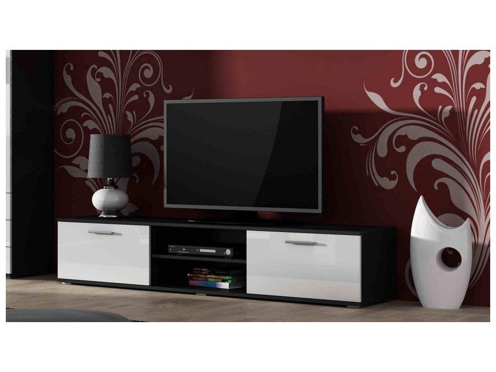 Artcam TV stolík SOHO 180 cm Farba: čierna/biely lesk