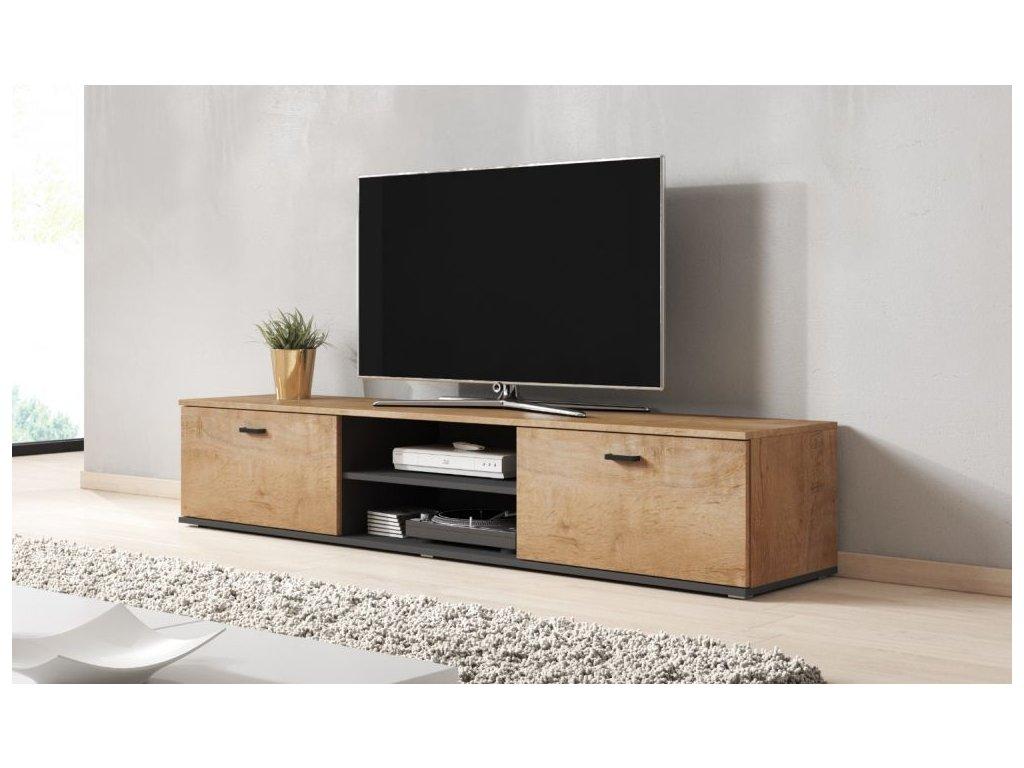 Artcam TV stolík SOHO 180 cm Farba: Dub lefkas/čierna