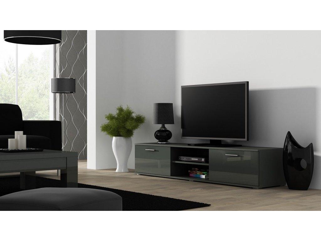 Artcam TV stolík SOHO 180 cm Farba: Sivá/sivý lesk