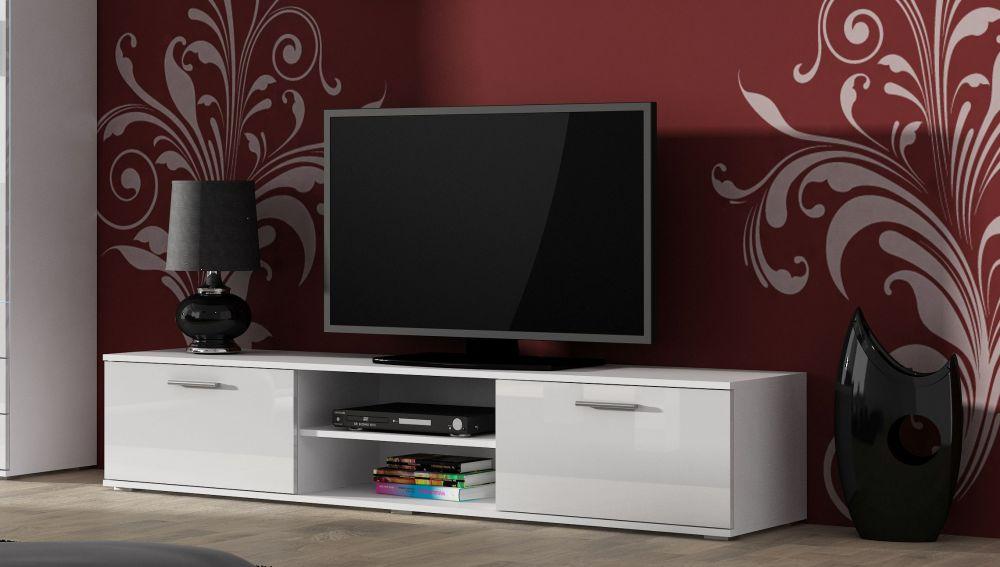 Artcam TV stolík SOHO 180 cm Farba: Biela/biely lesk