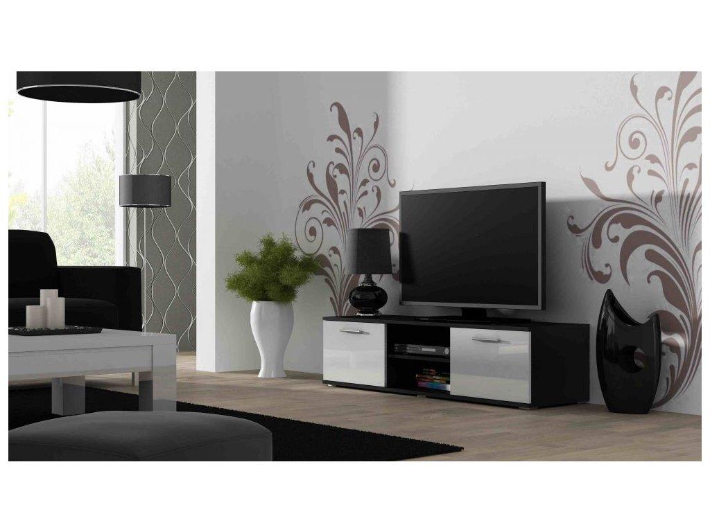 Artcam TV stolík SOHO 140 cm Farba: čierna/biely lesk