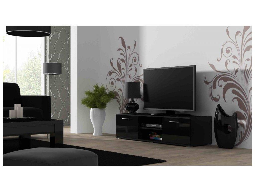 Artcam TV stolík SOHO 140 cm Farba: Čierna/čierny lesk