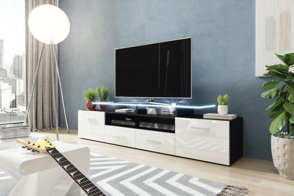 Artcam RTV stolík EVORA čierna Farba: Čierna/biela