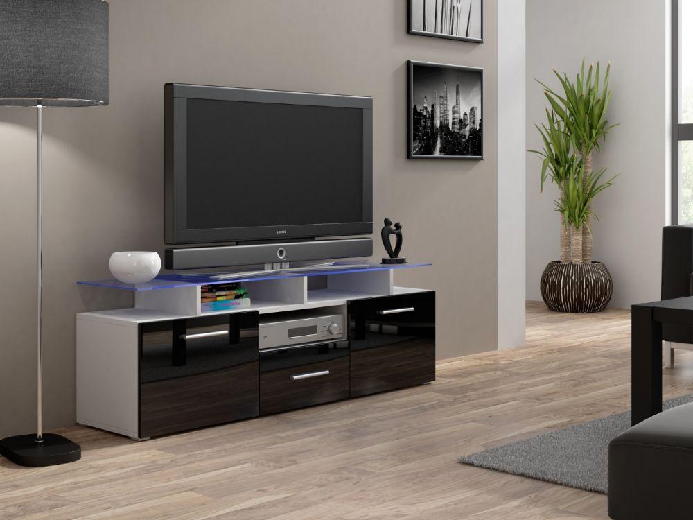 Artcam RTV stolík EVORA mini biely Farba: biela/čierna