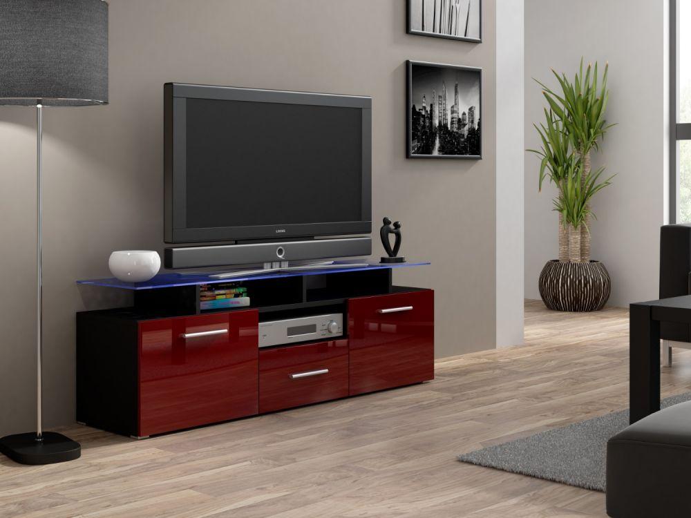 Artcam RTV stolík EVORA mini čierny Farba: Čierna/bordová