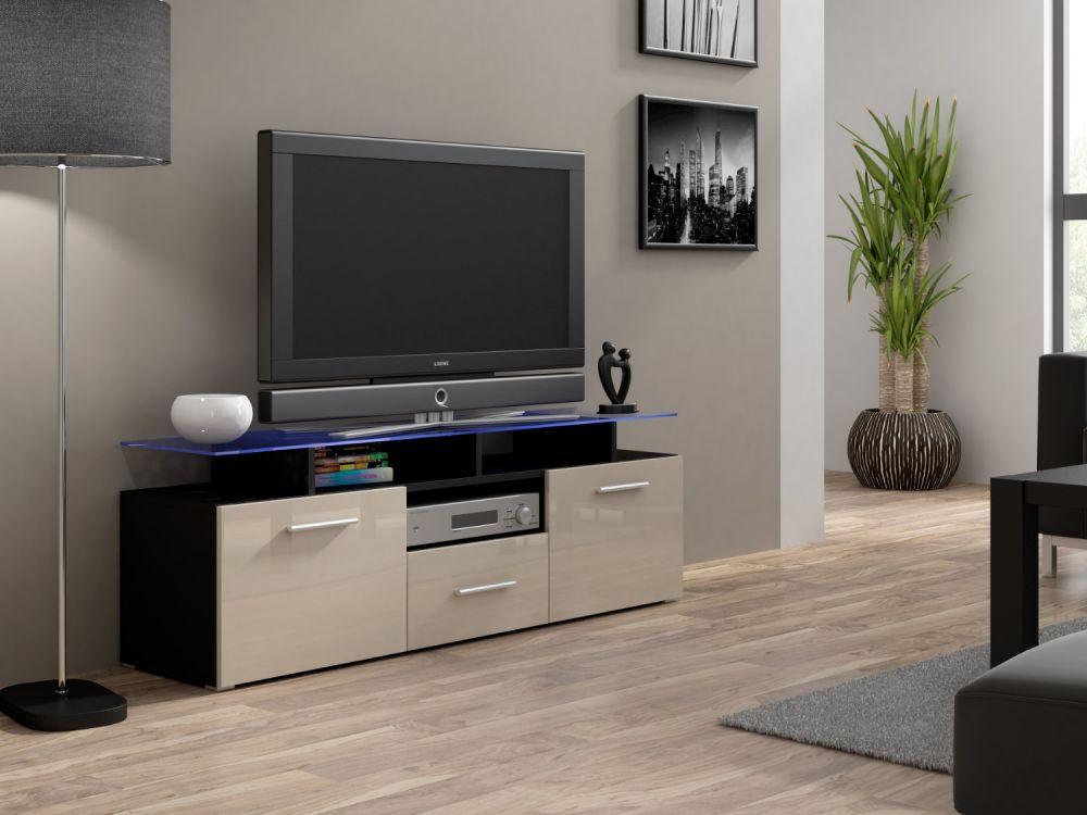 Artcam RTV stolík EVORA mini čierny Farba: Čierna/krémová
