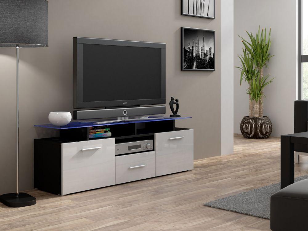 Artcam RTV stolík EVORA mini čierny Farba: Čierna/biela