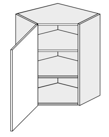 ArtExt Kuchynská skrinka horná rohová, W9/60 Quantum