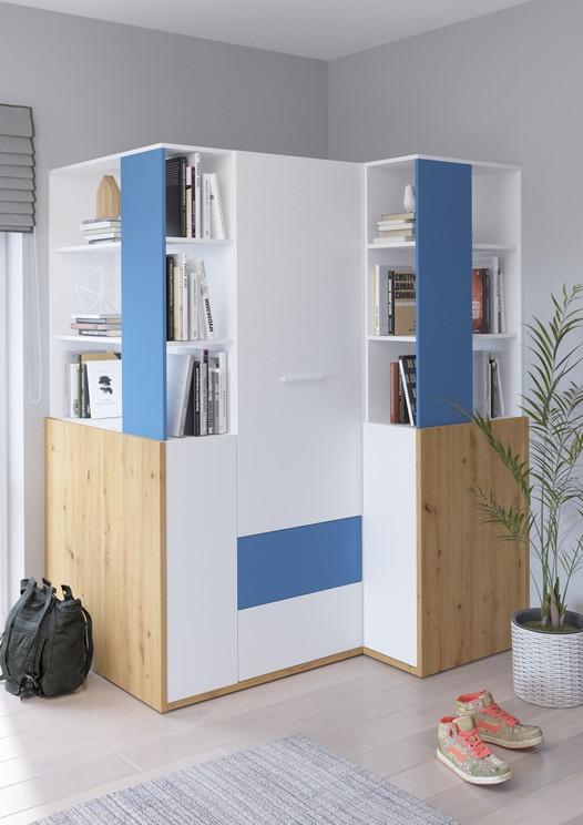 WIP Detská izba HEY 6 Farba: Dub artisan/biela/modrá