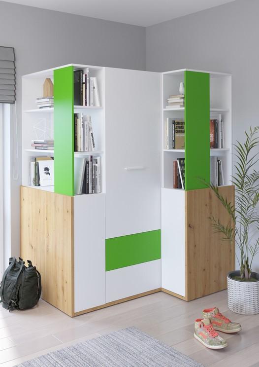 WIP Detská izba HEY 6 Farba: Dub artisan/biela/zelená