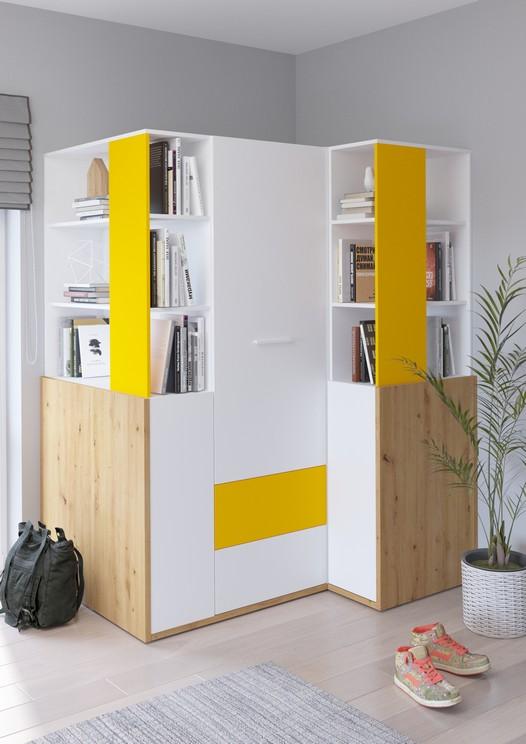 WIP Detská izba HEY 6 Farba: Dub artisan/biela/žltá
