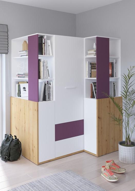 WIP Detská izba HEY 6 Farba: Dub artisan/biela/fialová