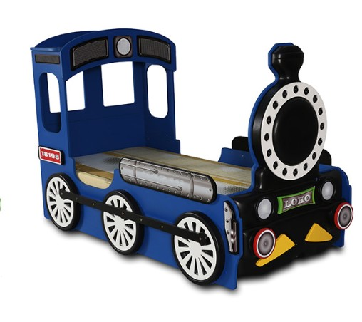 Artplast Detská posteľ Lokomotíva Farba: Modrá