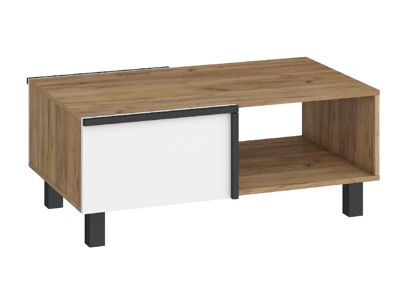 WIP Konferenčný stolík LARS-03 2D Farba: craft zlatý / biela