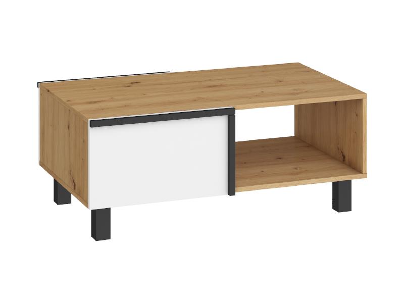 WIP Konferenčný stolík LARS-03 2D Farba: Dub artisan / biela