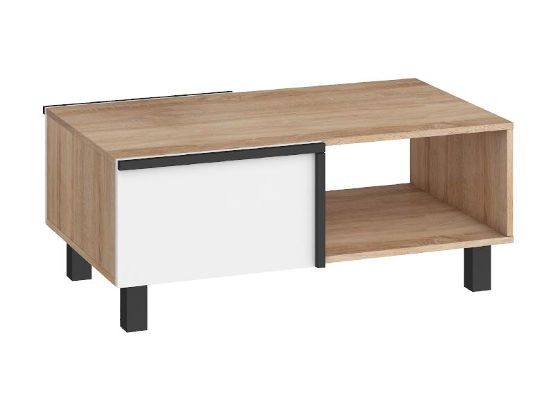 WIP Konferenčný stolík LARS-03 2D Farba: dub sonoma svetlá/biela