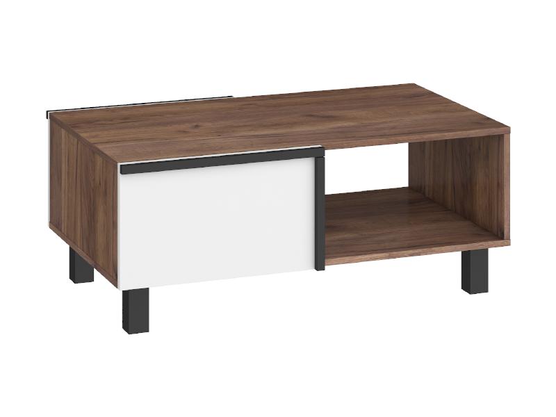 WIP Konferenčný stolík LARS-03 2D Farba: craft tobaco/biela