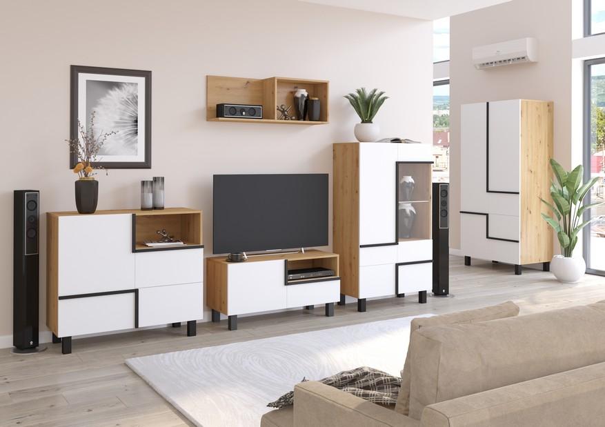 WIP Obývacia stena LARS 3 Farba: Dub ARTISAN/biela