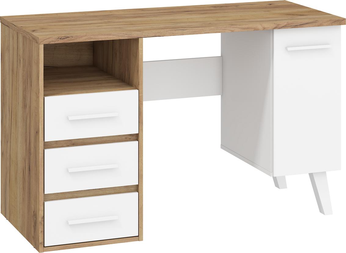 WIP PC stôl NORDIS-01/1D1S Farba: craft zlatý/biely