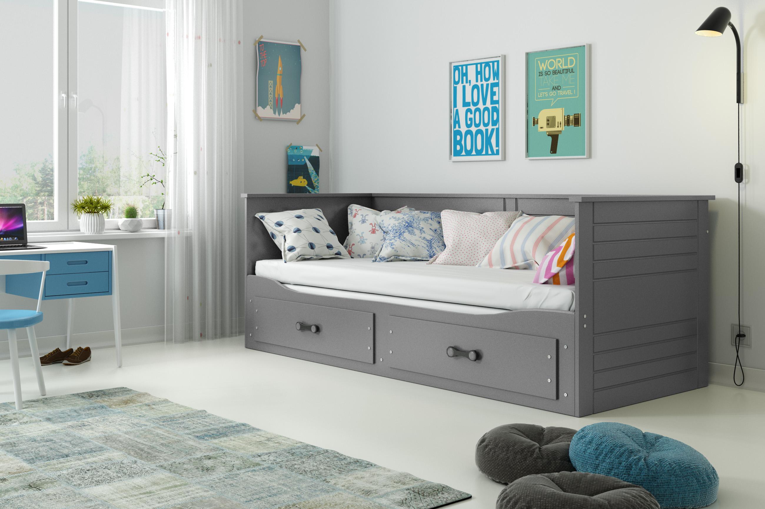 BMS Detská posteľ Hermes Farba: Grafit