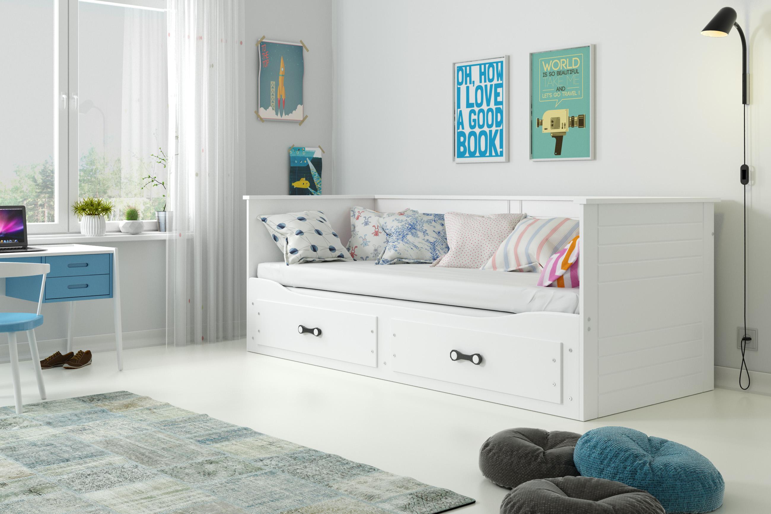 BMS Detská posteľ Hermes Farba: Biela