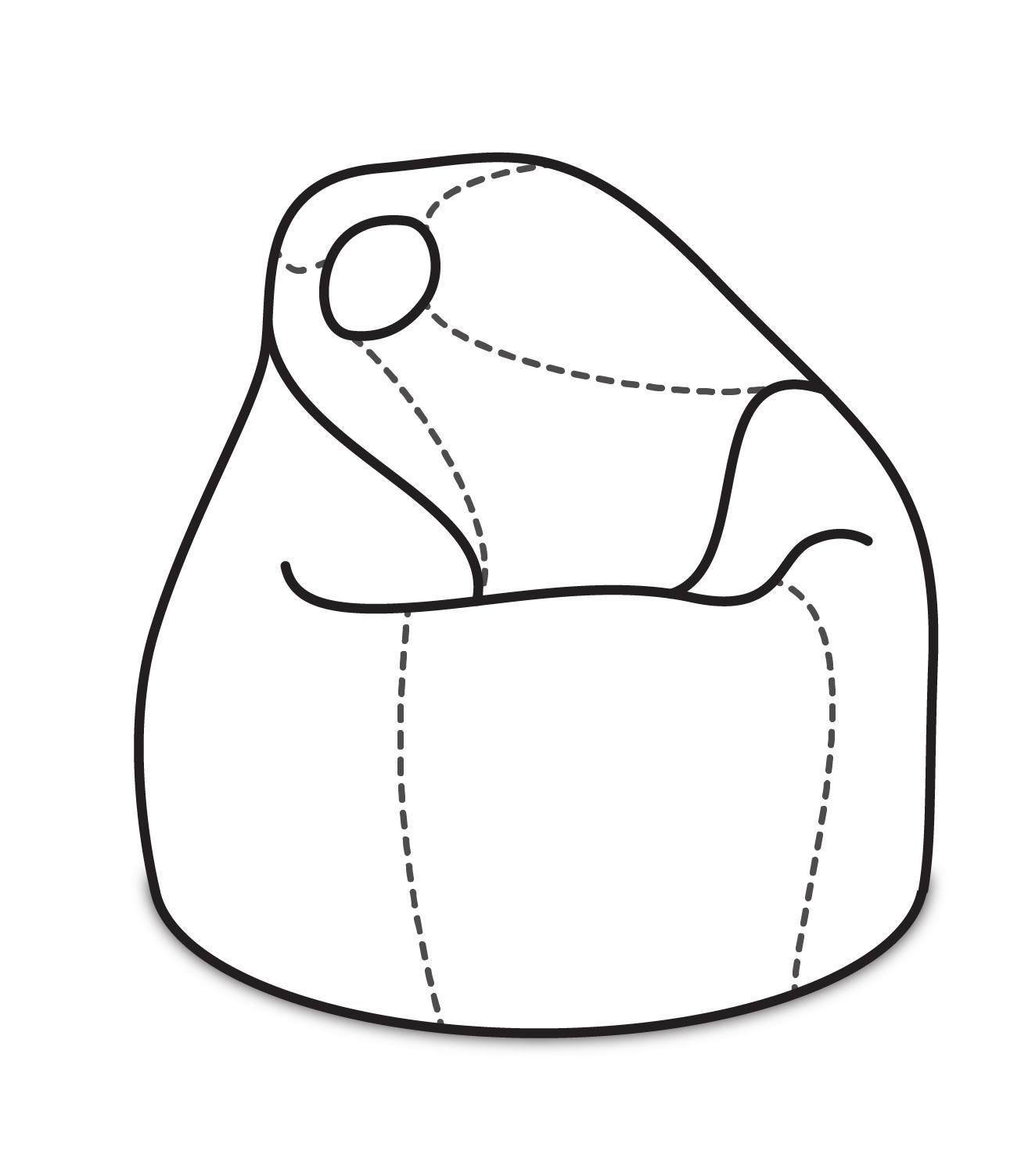 ArtPP Sedací vak Komfort XL - PPY-30 Prevedenie: 2. cenová skupina látok