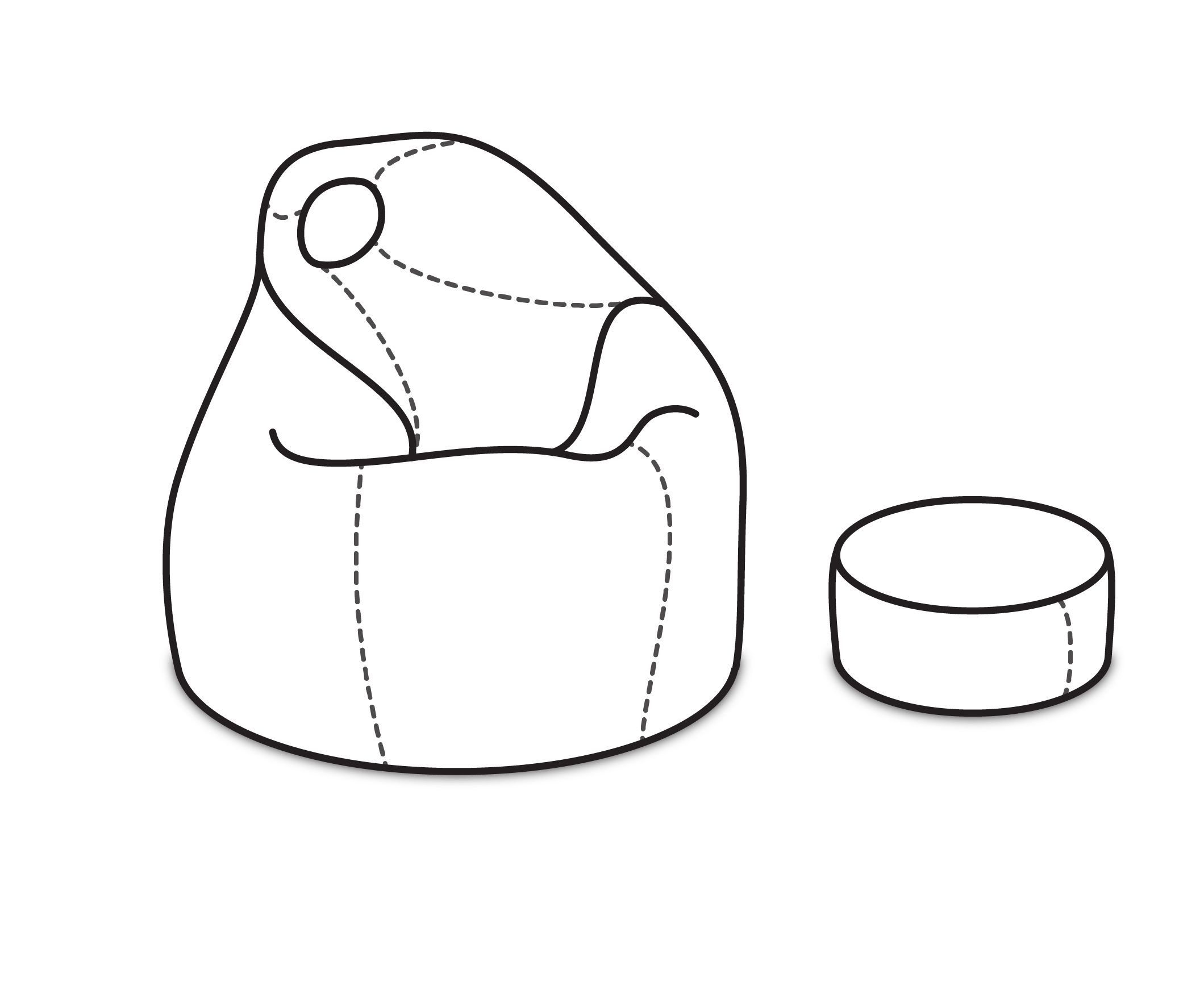 ArtPP Sedací vak Komfort XXL - PPY-31 Prevedenie: 1. cenová skupina látok