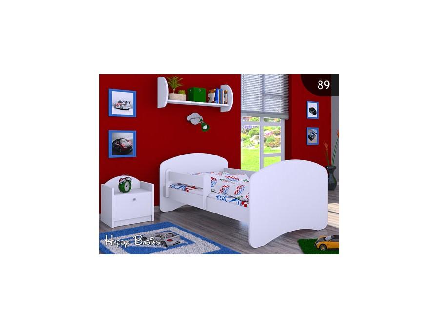 Happy Babies Detská posteľ HAPPY Farba: Biela, Prevedenie: bez úložného priestoru, Rozmer.: 180 x 90 cm