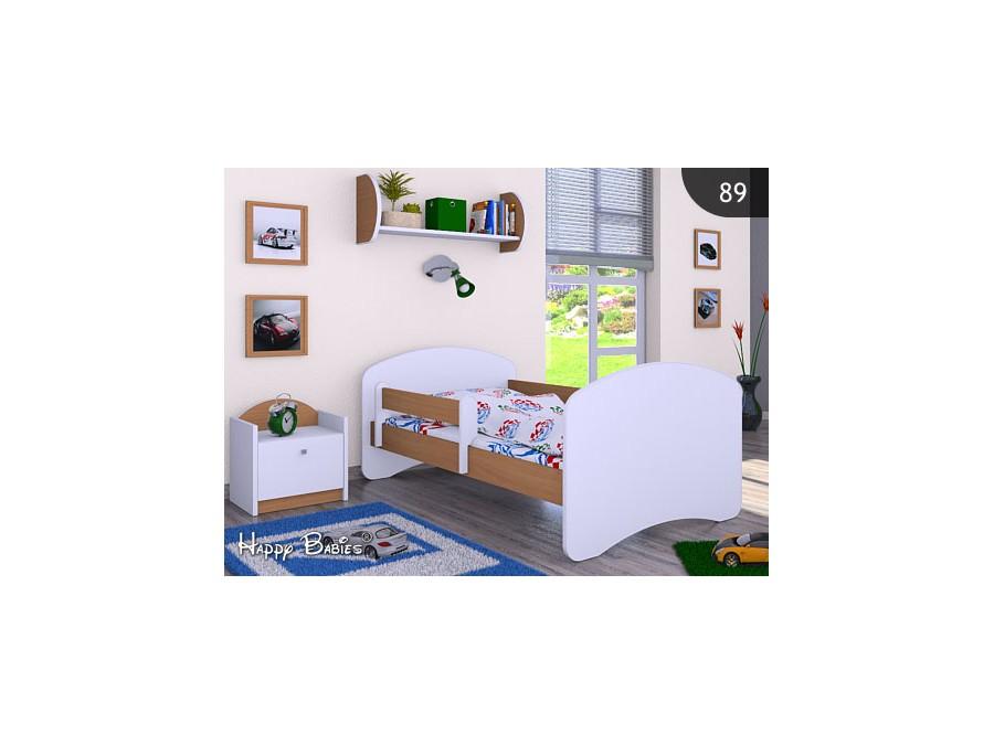 Happy Babies Detská posteľ HAPPY Farba: Buk, Prevedenie: bez úložného priestoru, Rozmer.: 180 x 90 cm