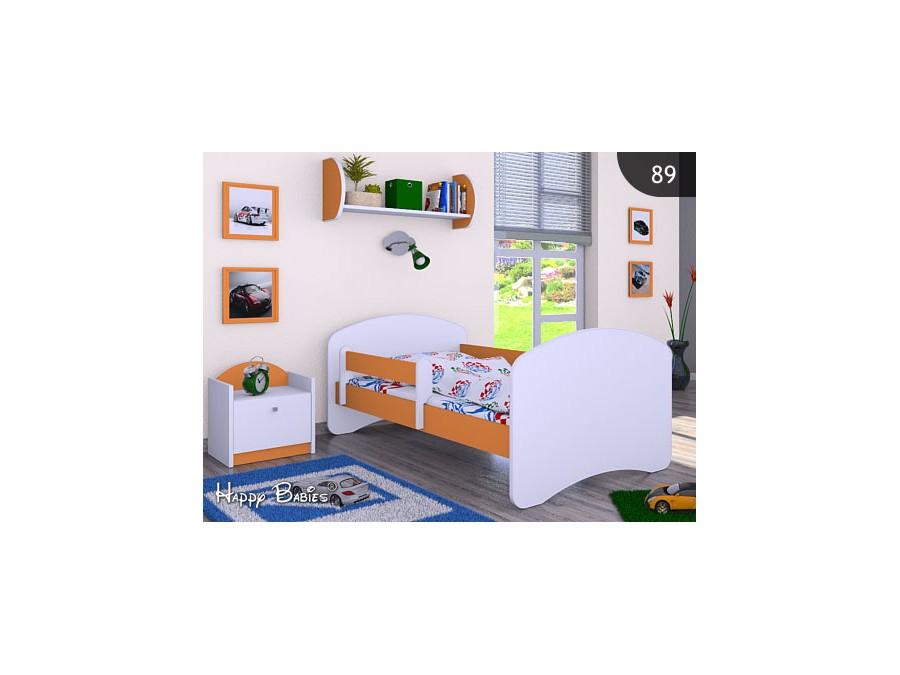 Happy Babies Detská posteľ HAPPY Farba: Oranžová, Prevedenie: bez úložného priestoru, Rozmer.: 180 x 90 cm