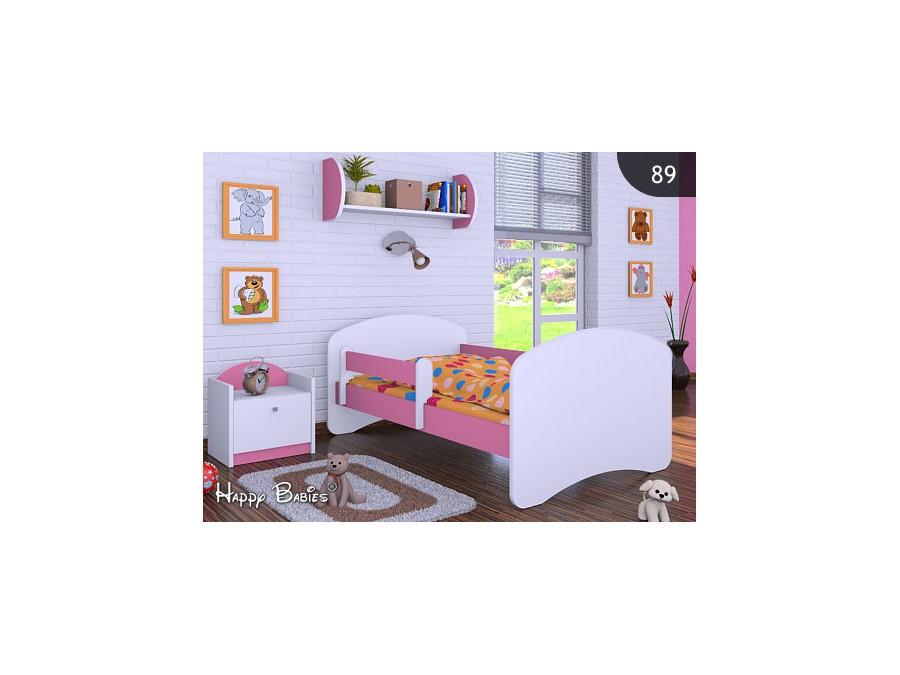 Happy Babies Detská posteľ HAPPY Farba: Ružová, Prevedenie: bez úložného priestoru, Rozmer.: 180 x 90 cm