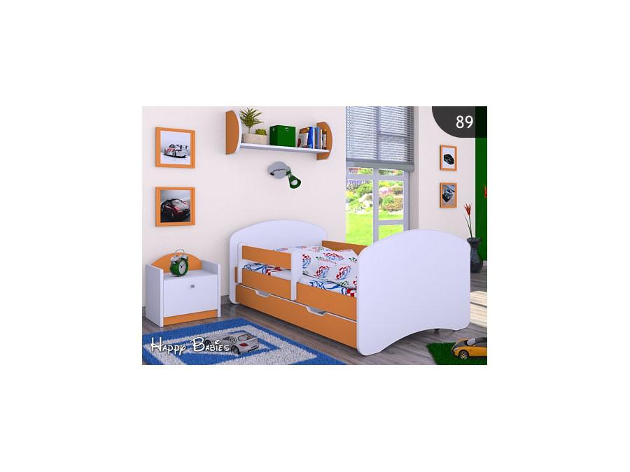 Happy Babies Detská posteľ HAPPY L04 160/80 - bez obrázka/s úložným priestorom Farba: Oranžová / Biela, Prevedenie: 80 x 160 cm /So zásuvkou, Obrázok: Bez obrázku