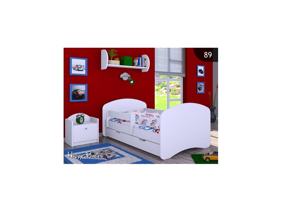 Happy Babies Detská posteľ HAPPY L04 160/80 - bez obrázka/s úložným priestorom Farba: Biela / biela, Prevedenie: 80 x 160 cm /So zásuvkou, Obrázok: Bez obrázku